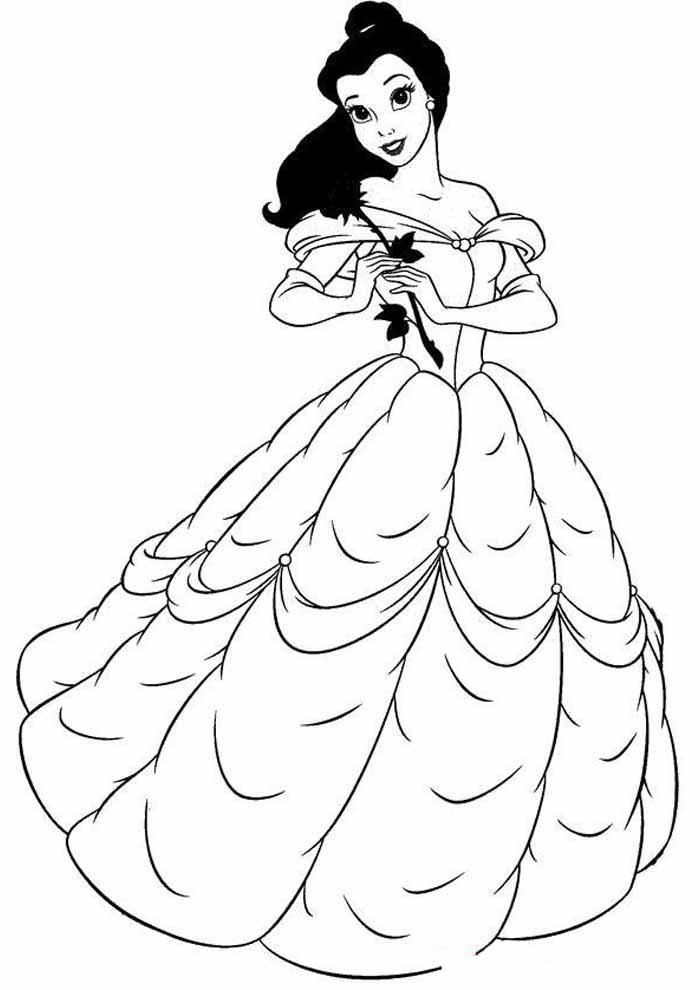princesa para colorir tímida