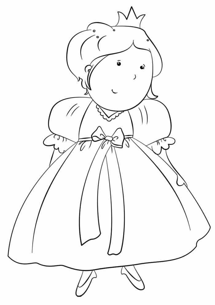 princesa tímida para colorir