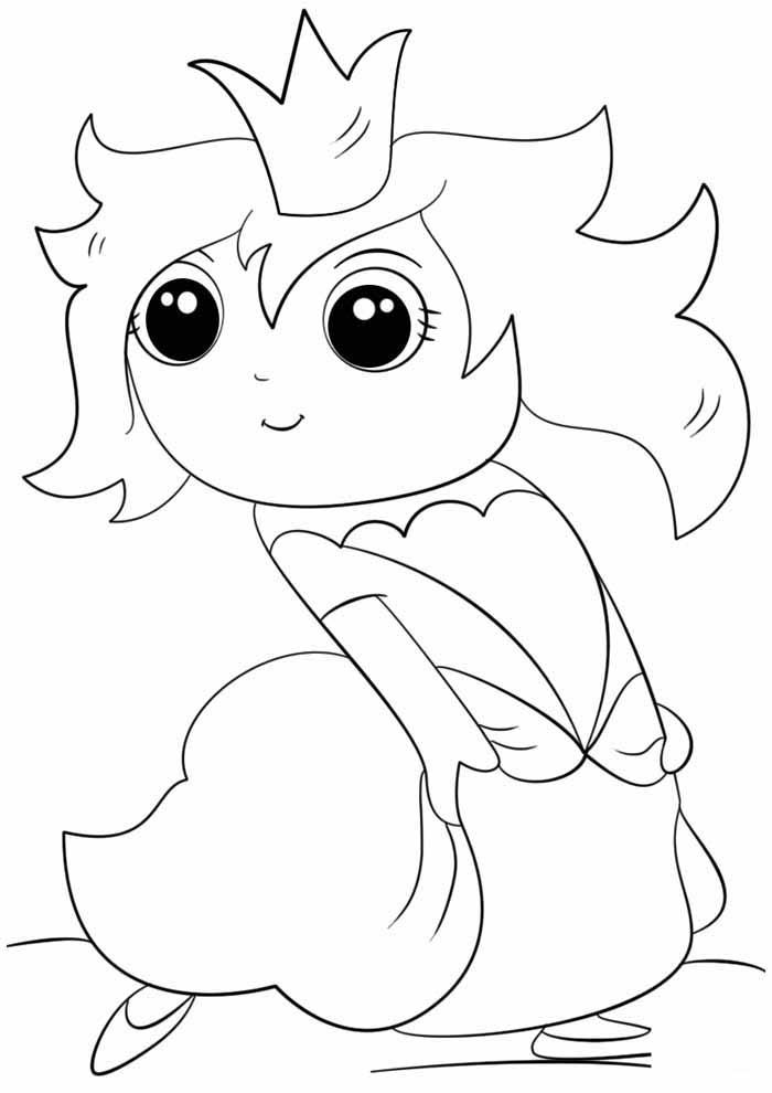 princesinha para colorir