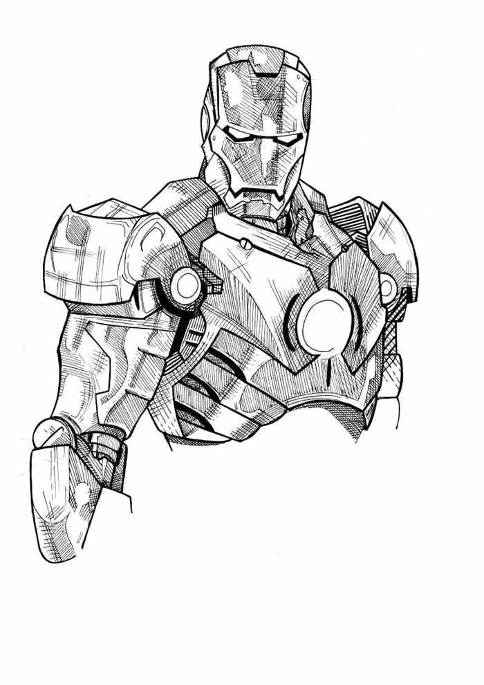 tronco homem de ferro para colorir