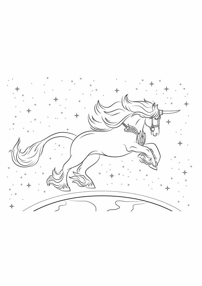 unicornio para colorir 12