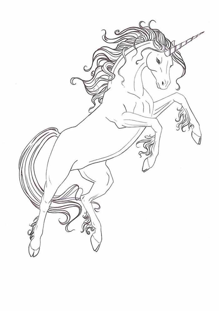 unicornio para colorir 17