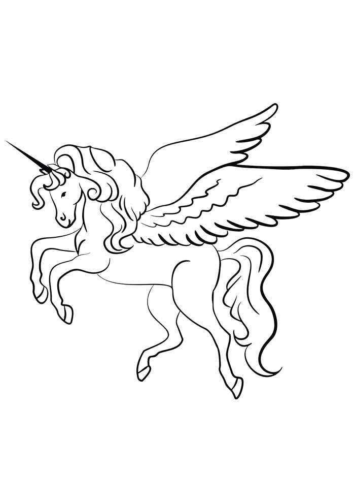 unicornio para colorir 2