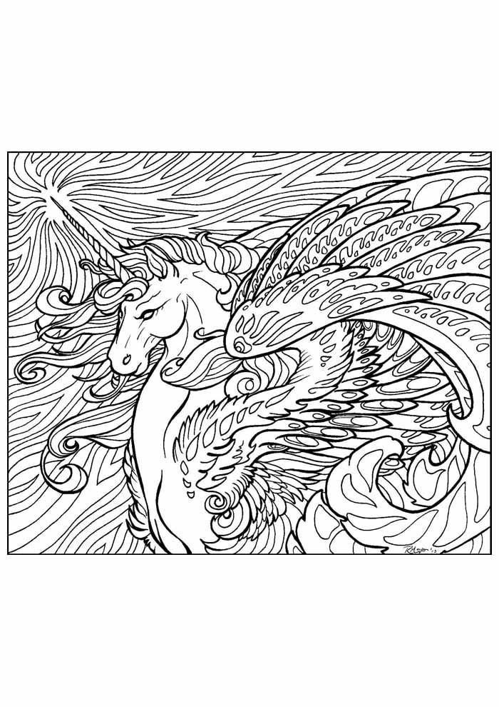 unicornio para colorir 23