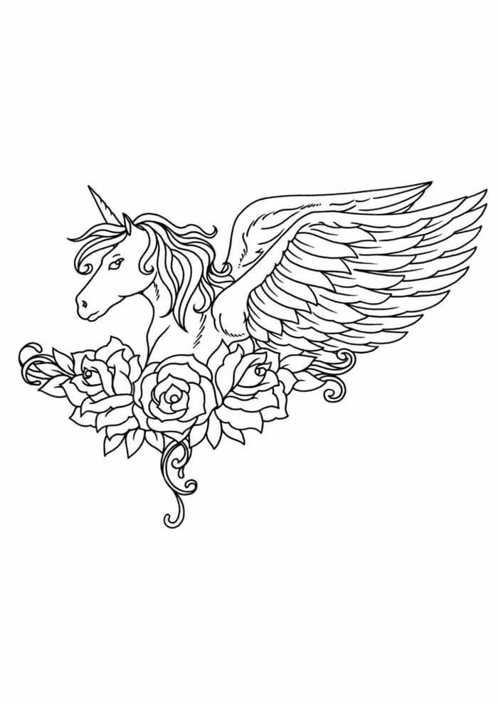 unicornio para colorir 27