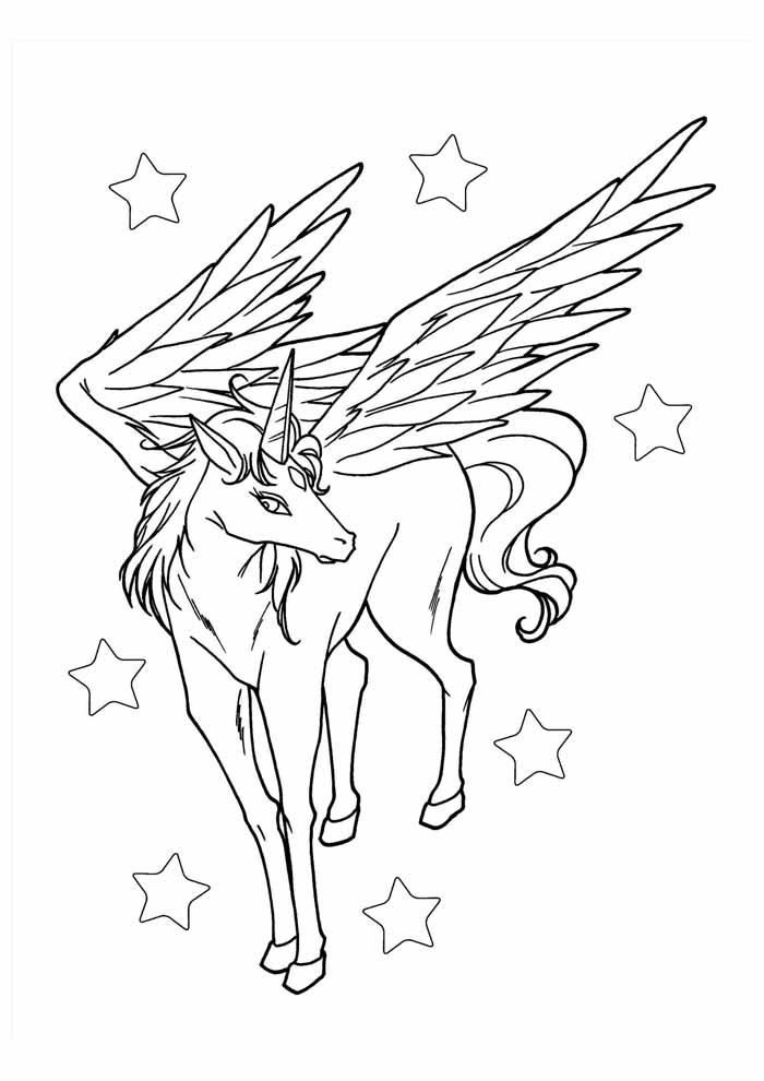 unicornio para colorir 58