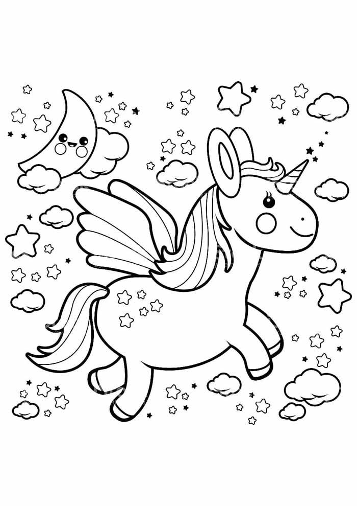 unicornio para colorir 69