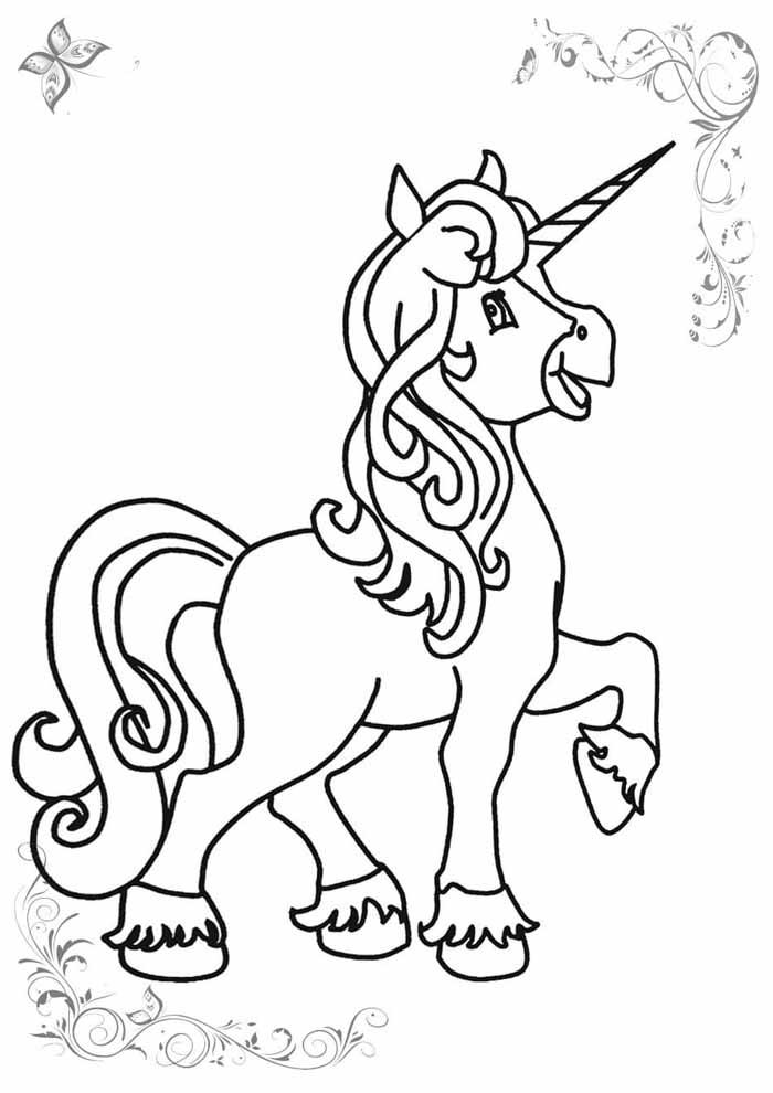 unicornio para colorir 8