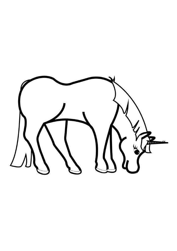 unicornio-para-colorir-comendo