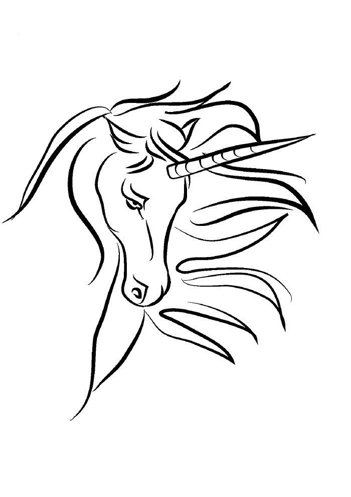 unicornio-para-colorir-elegante-1