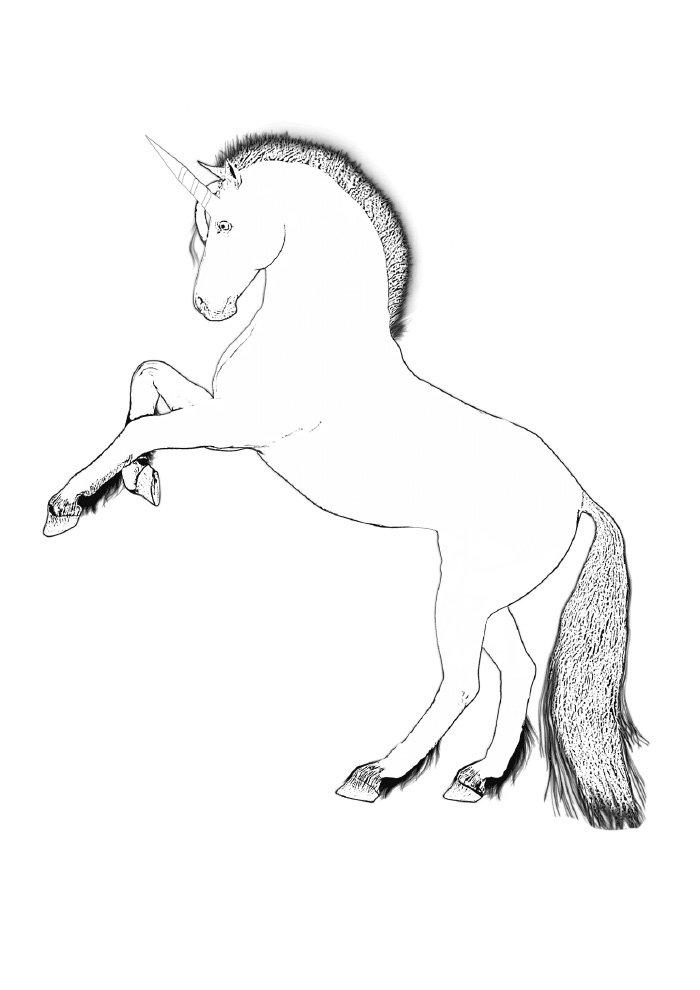 unicornio-para-colorir-empinando