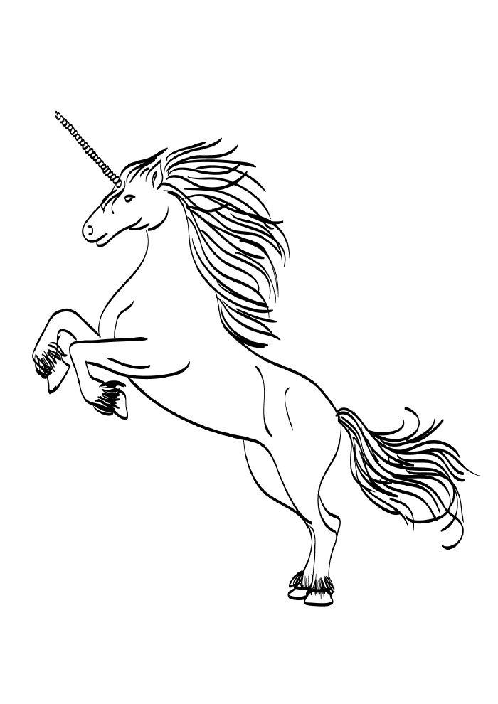 unicornio-para-colorir-saltando