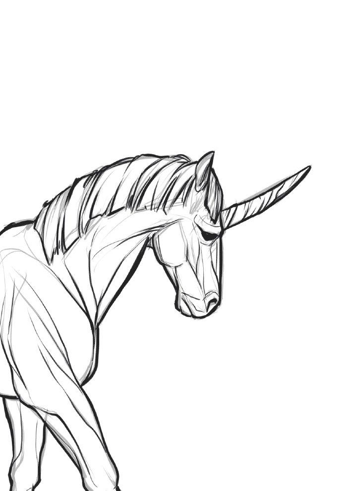 unicornio-para-colorir-tronco-e-cara