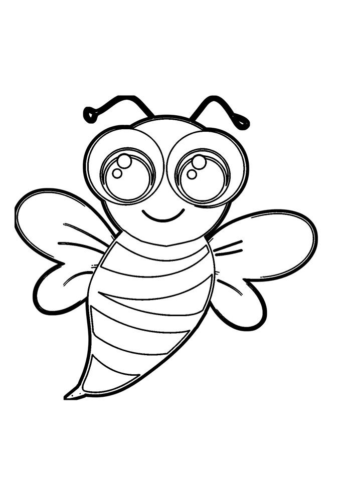 abelha para colorir 10