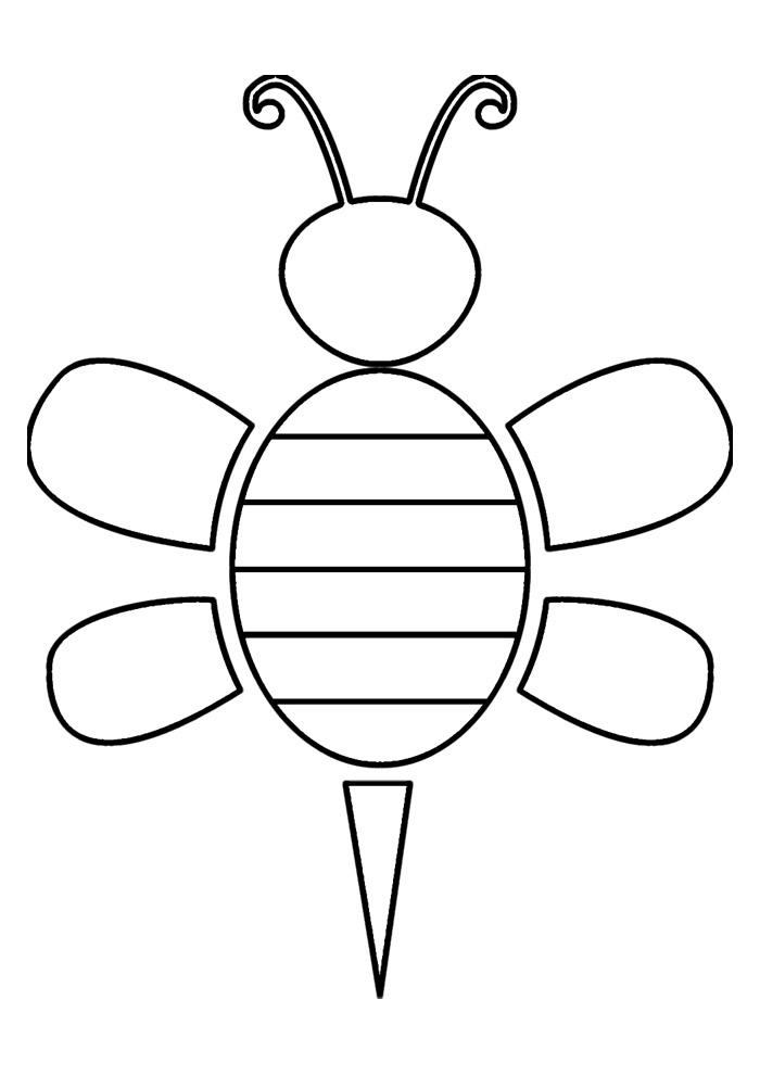 abelha para colorir 11