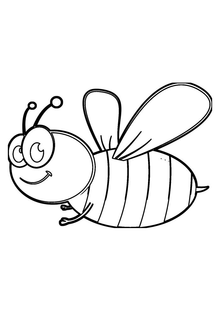 abelha para colorir 13