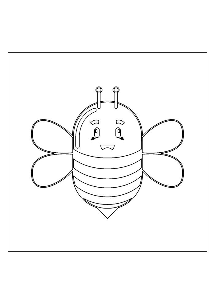 abelha para colorir 17