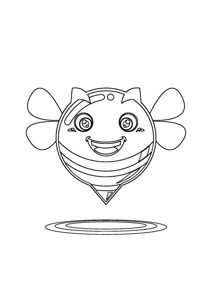 abelha para colorir 18