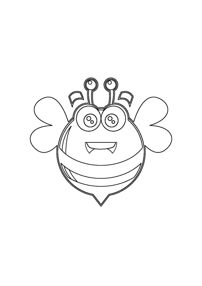 abelha para colorir 19