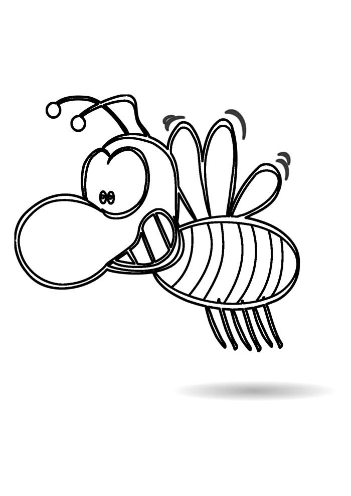 abelha para colorir 2