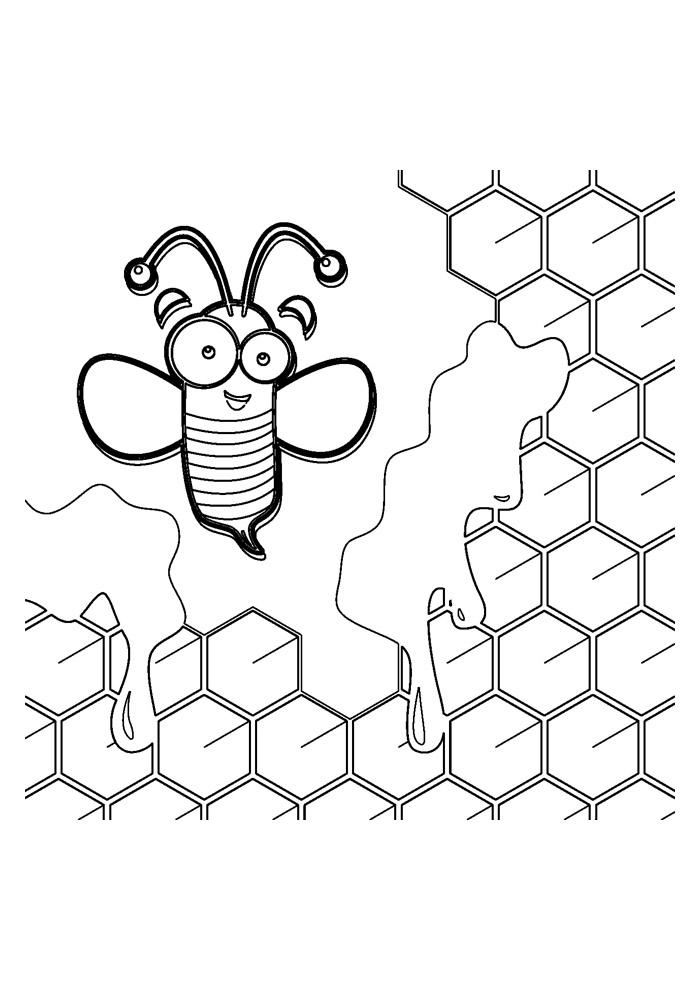 abelha para colorir 20