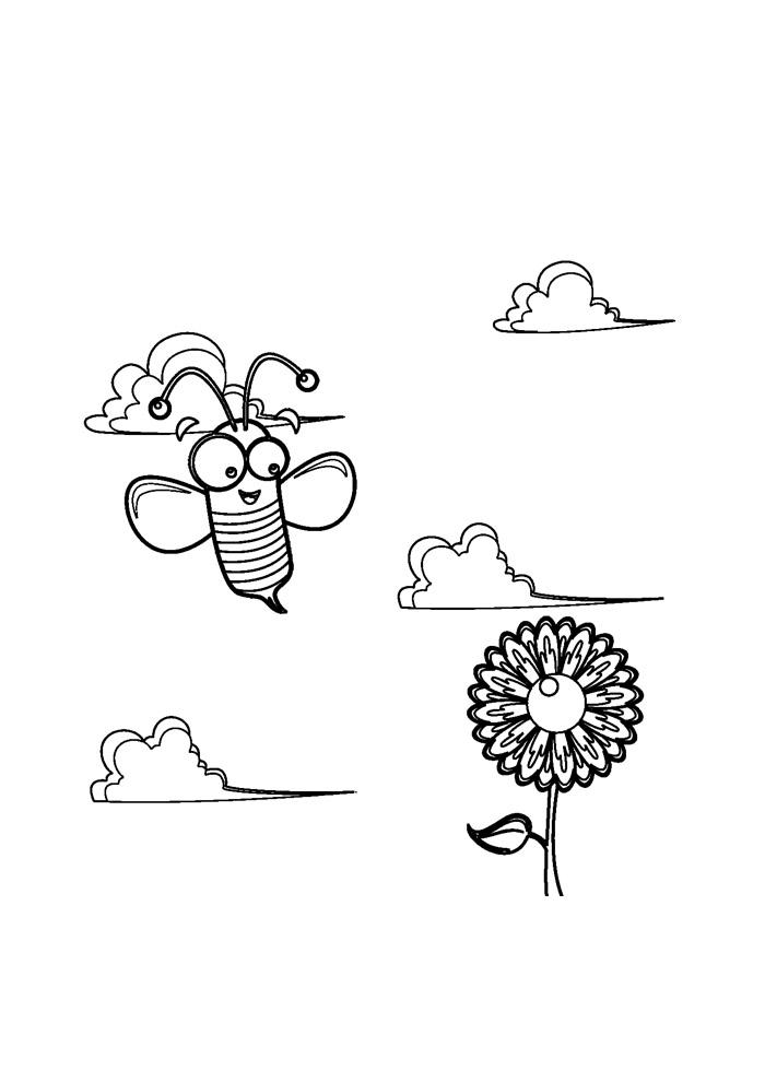 abelha para colorir 21