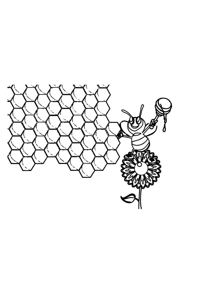 abelha para colorir 22