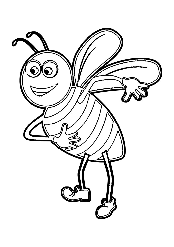 abelha para colorir 24