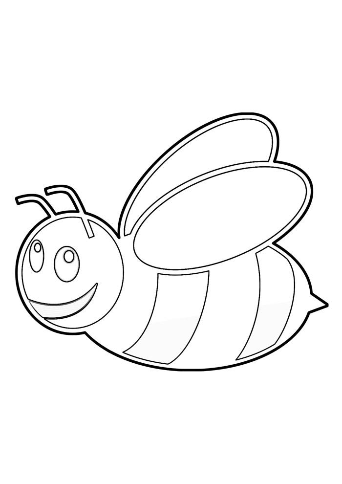 abelha para colorir 26