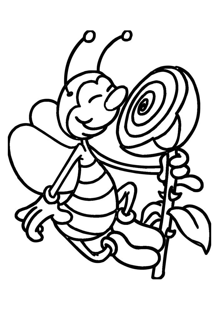 abelha para colorir 3