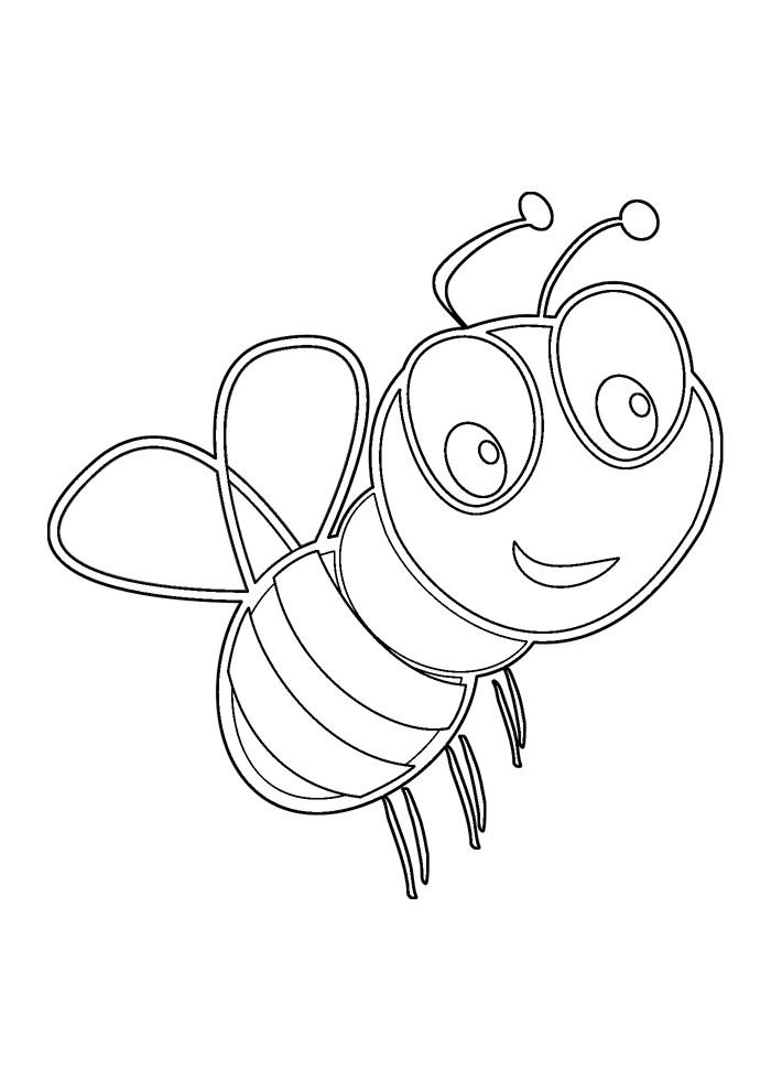 abelha para colorir 33
