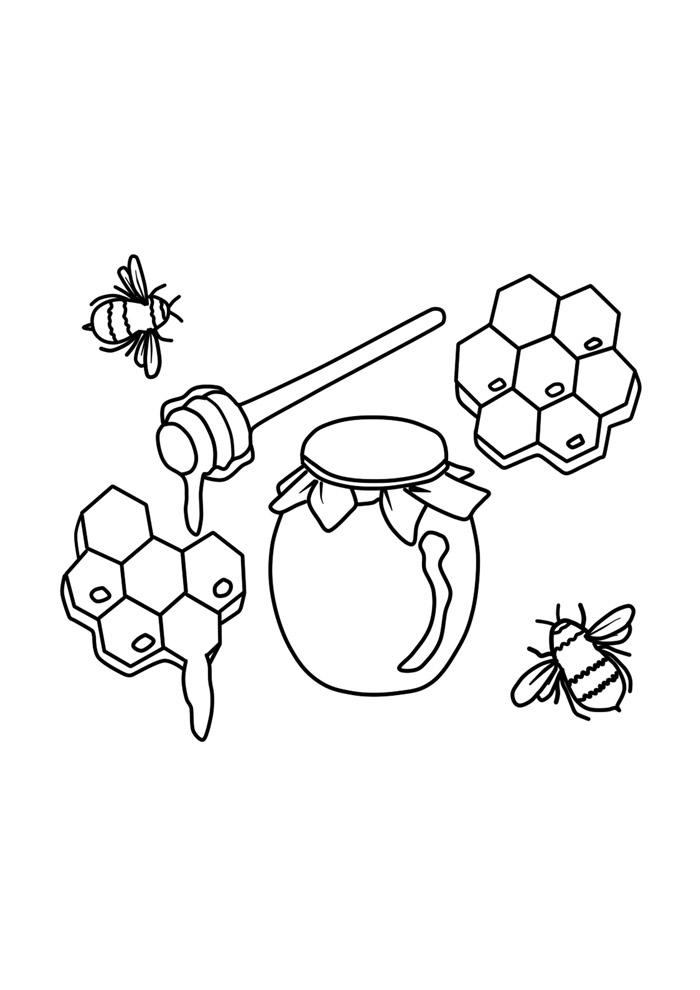 abelha para colorir 34