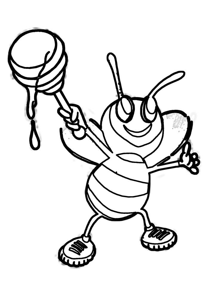 abelha para colorir 36