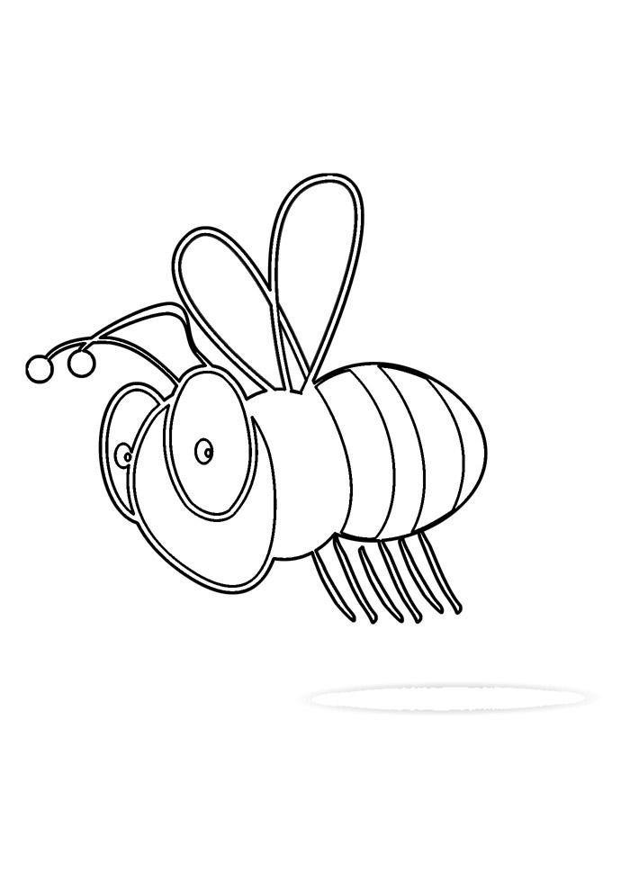 abelha para colorir 37