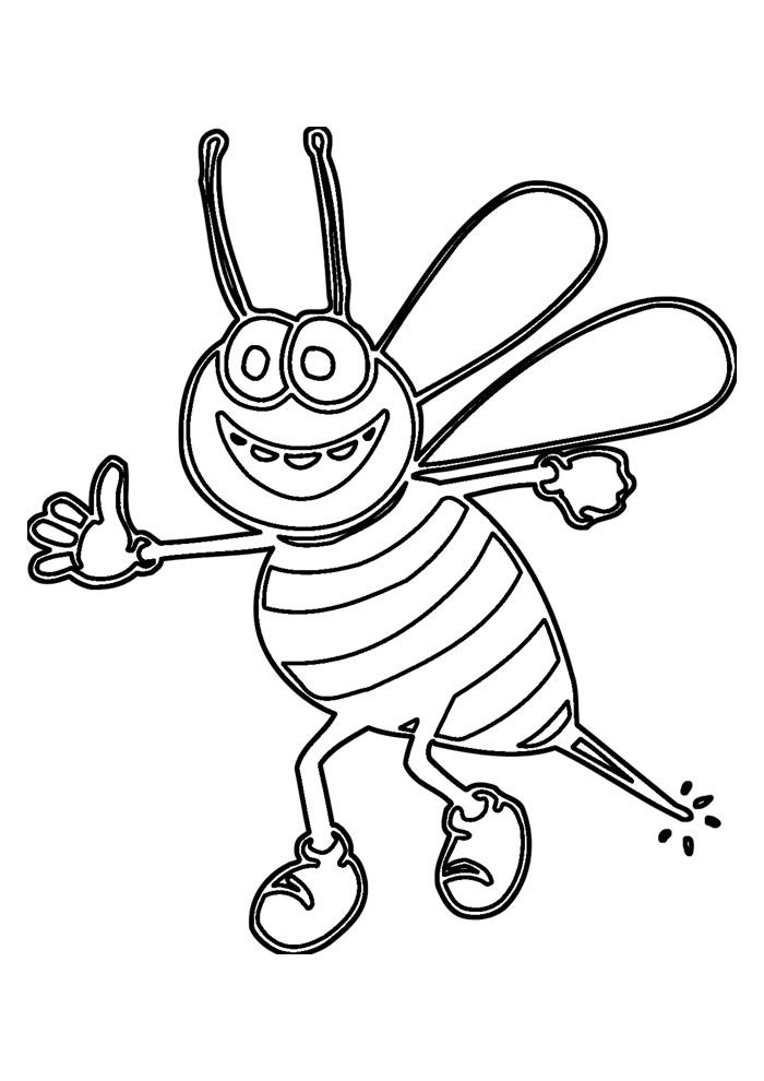 abelha para colorir 4
