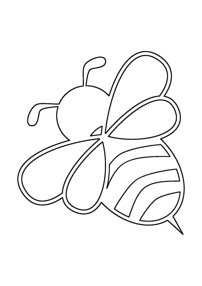 abelha para colorir 7