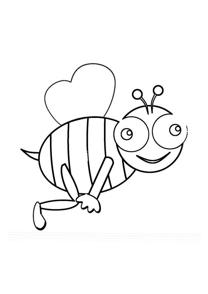abelha para colorir 8