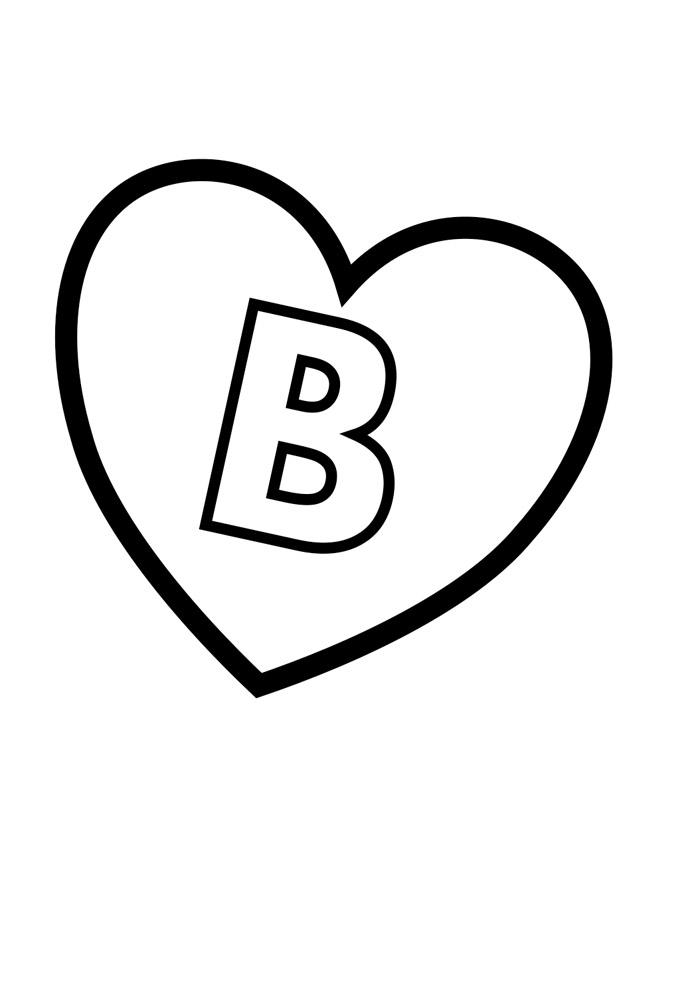 alfabeto para colorir b