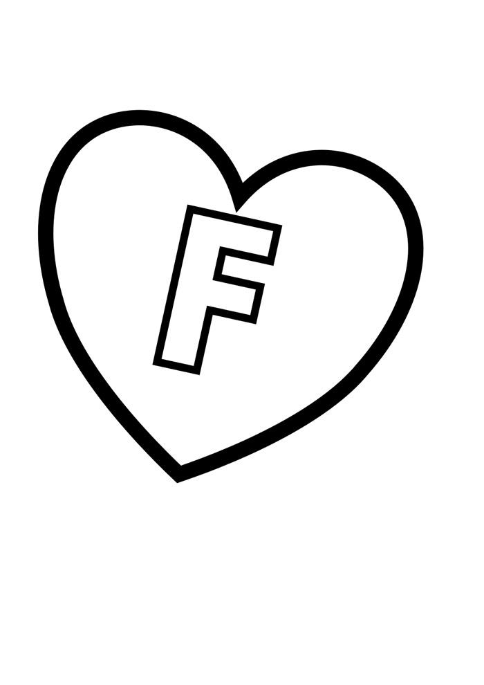 alfabeto para colorir f