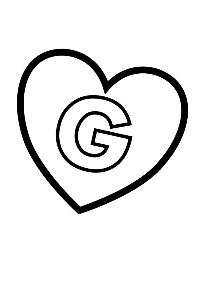 alfabeto para colorir g