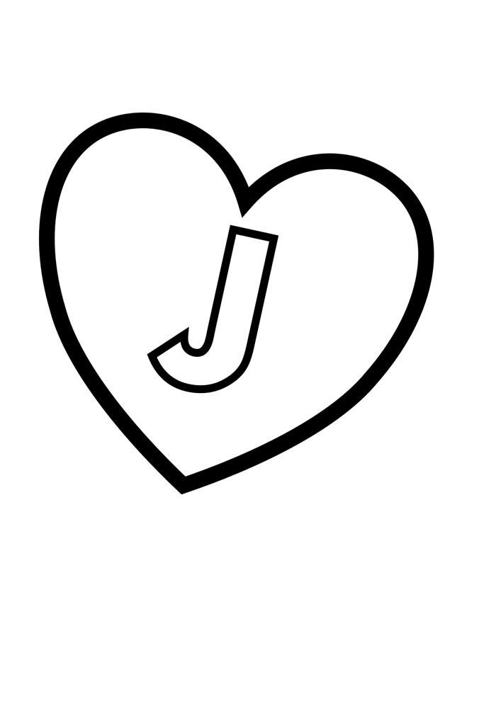 alfabeto para colorir j