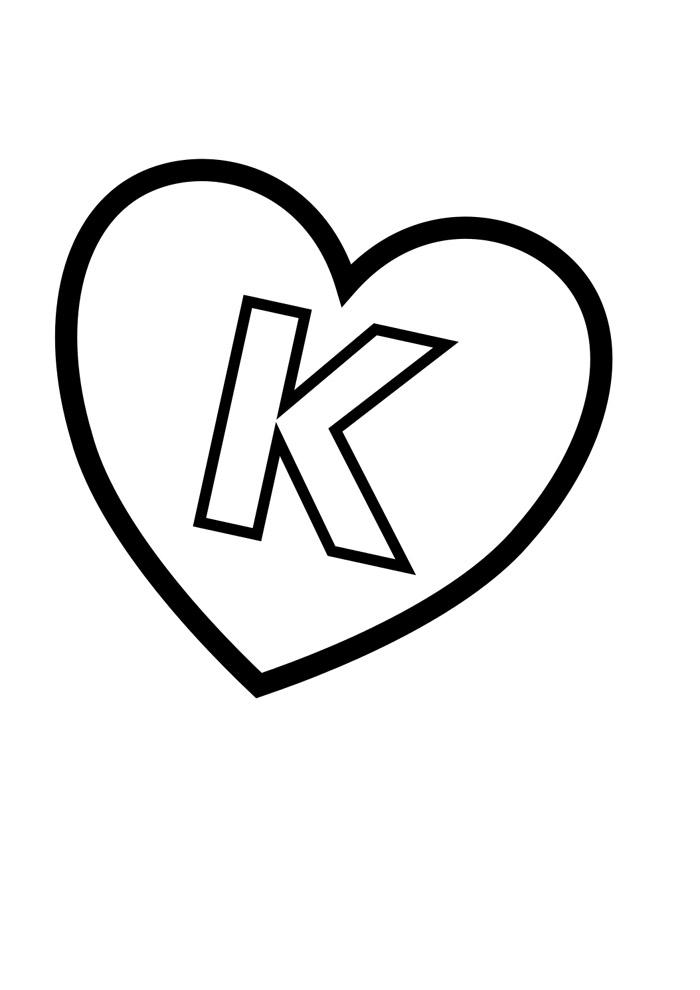 alfabeto para colorir k