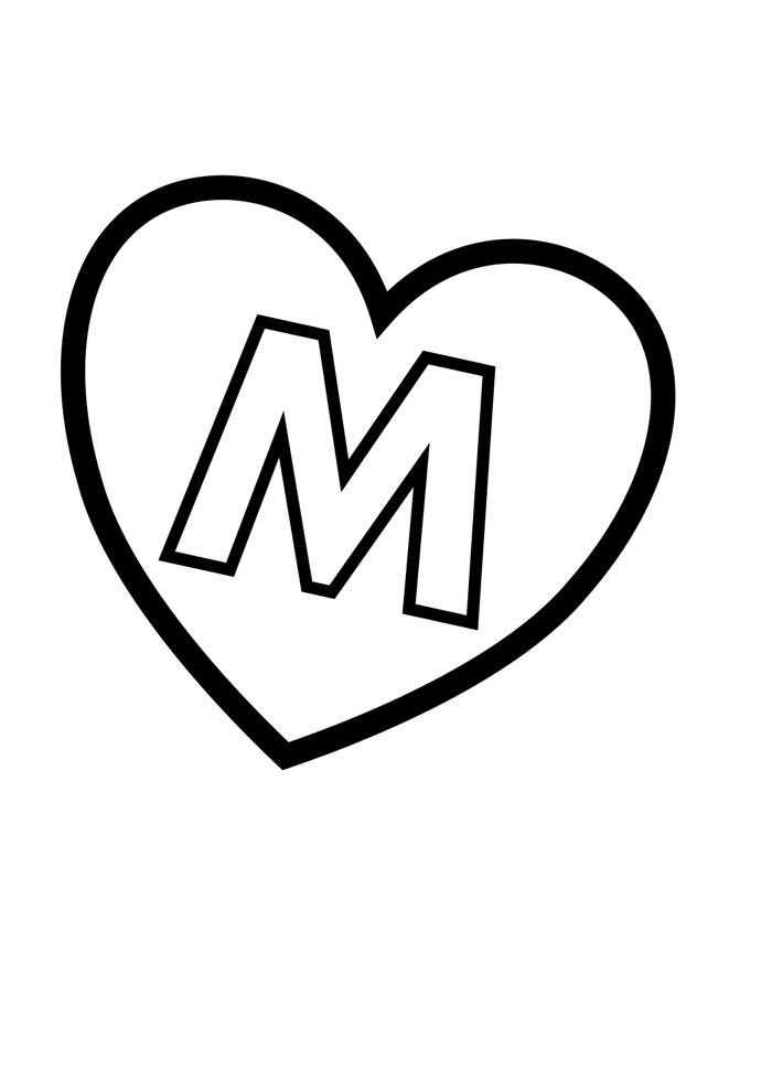 alfabeto para colorir m