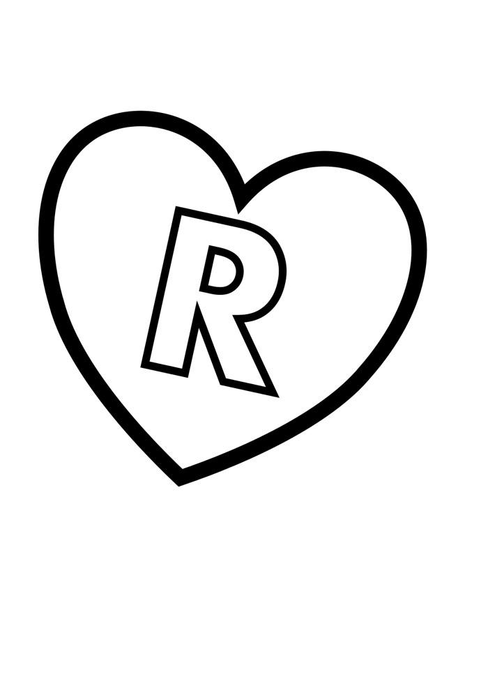 alfabeto para colorir r