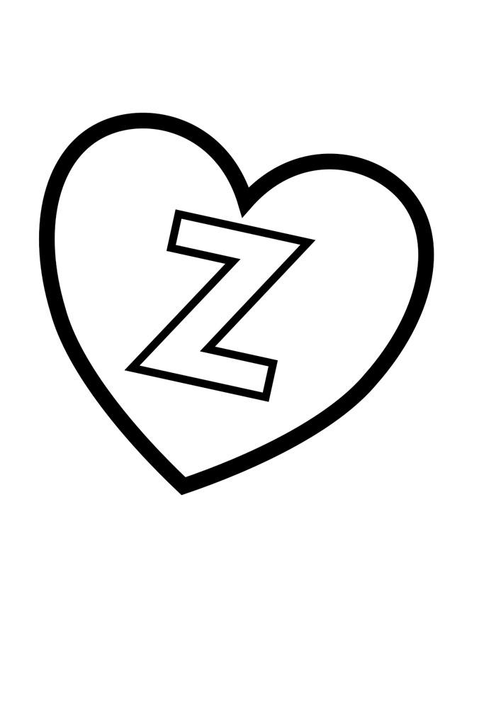alfabeto para colorir z