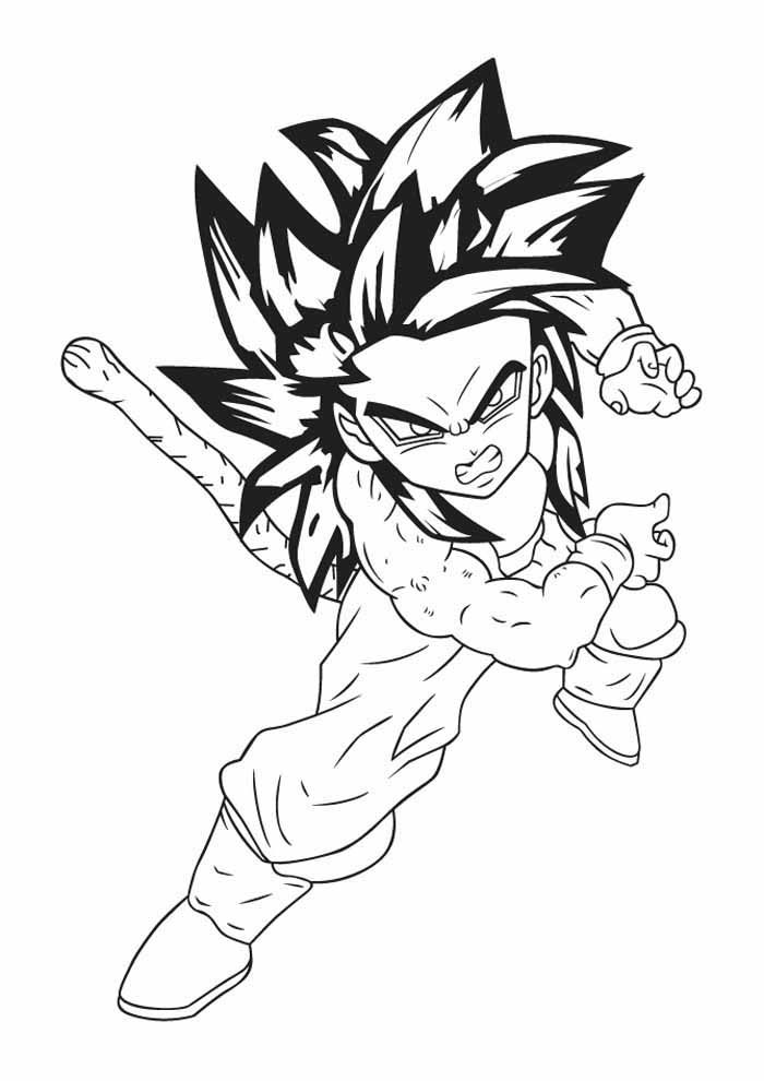 anime para colorir dragon ball z