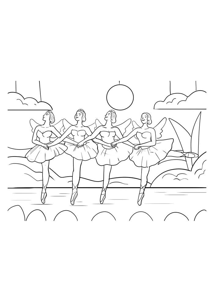 bailarina para colorir 10