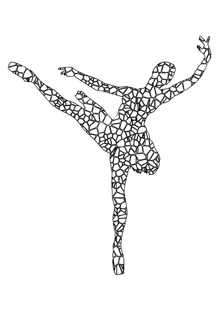 bailarina para colorir 13