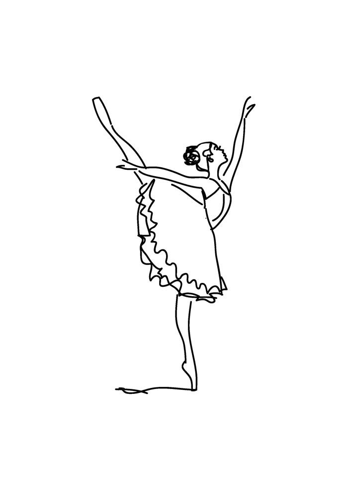 bailarina para colorir 14