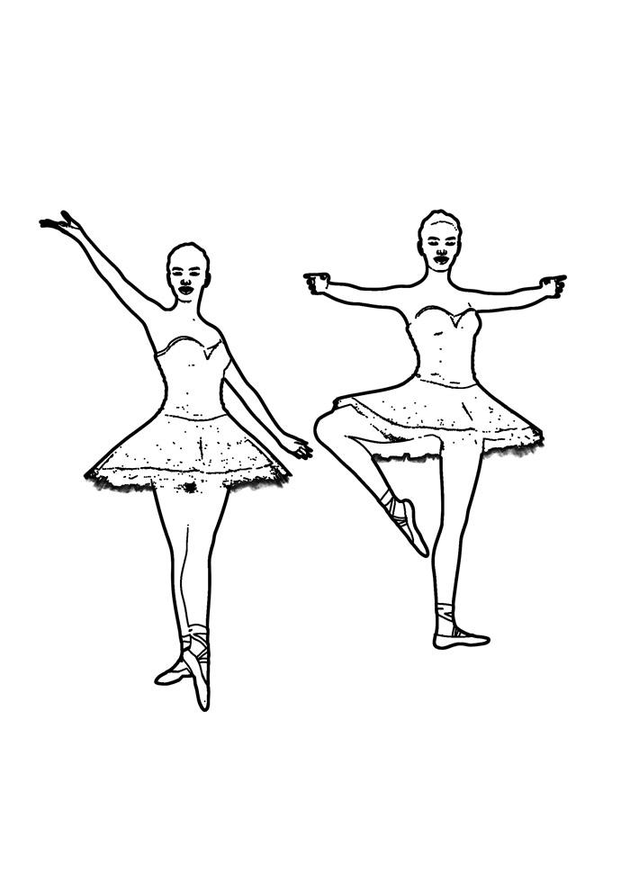 bailarina para colorir 15